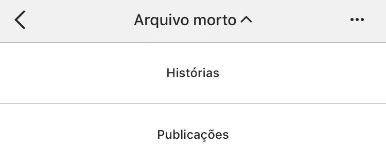 novidades do instagram: arquivar stories