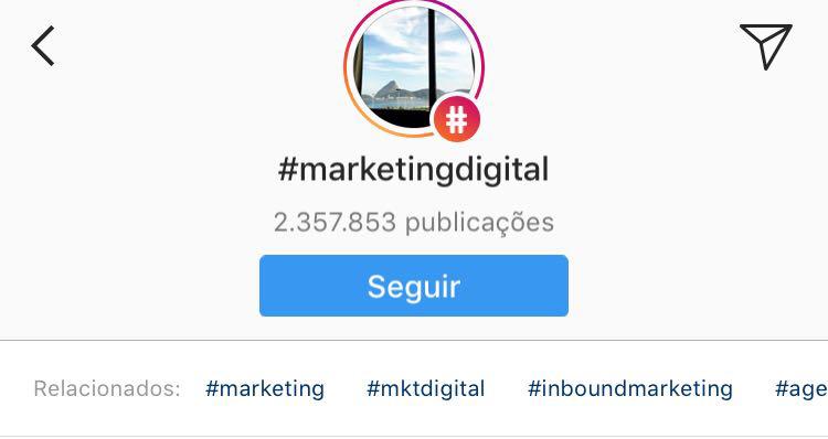 7-novidades do instagram: seguir hashtags