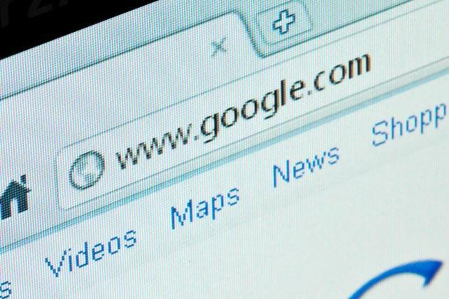 A imagem retrata o endereço de rede (URL) do Google para exemplificar o featured snippet